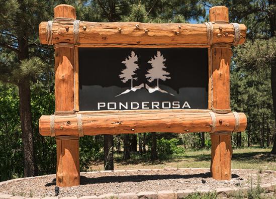 Ponderosa Retreat Center and entry at Larkspur Colorado